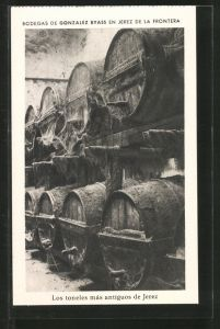AK Jerez de la Frontera, Bodegas de Gonzalez Byass, Les toneles más antiguos de Jerez, Weinfässer
