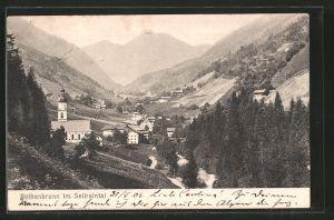 AK Rothenbrunn im Sellraintal, Ortsansicht mit Kirche