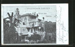 AK Wien, Restaurant Englischer Garten im Wiener Prater