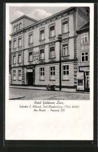 AK Bad Blankenburg, Hotel Goldener Löwe am Markt