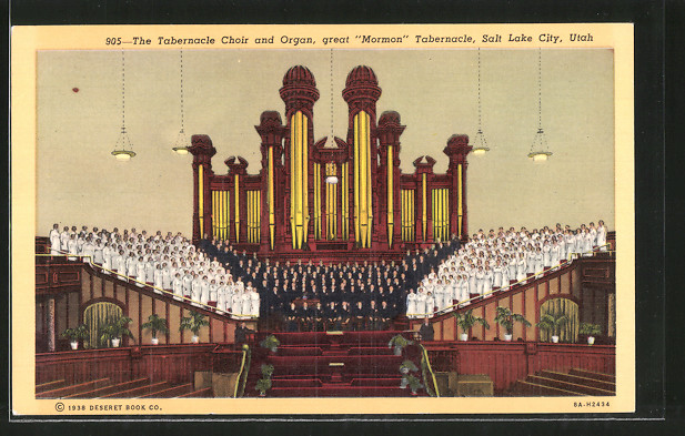 AK Salt Lake City, UT, The Tabernacle Choir and Organ, Great Mormon Tabernacle