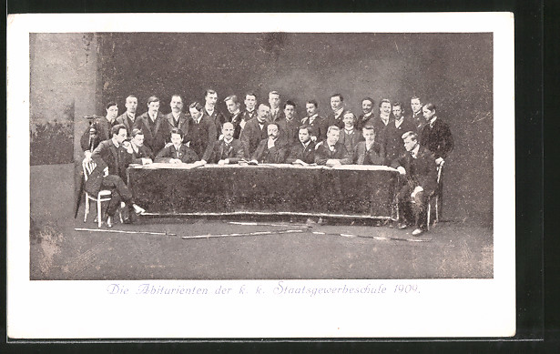 AK Salzburg, Absolvia 1909, Abiturienten der k.k. Staatsgewerbeschule