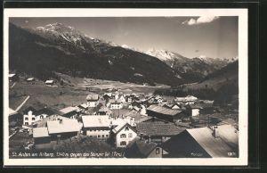 AK St. Anton am Arlberg, Gesamtansicht gegen das Stanzer Tal