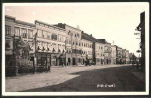 AK Altheim, Strassenpartie im Ort