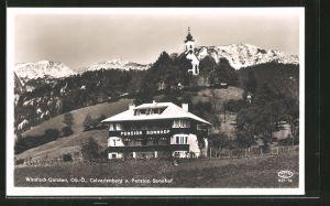 AK Windisch-Garsten, Calvarienberg und Pension Sonnhof