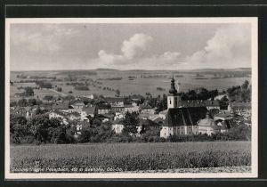 AK Peuerbach, Teilansicht mit Kirche