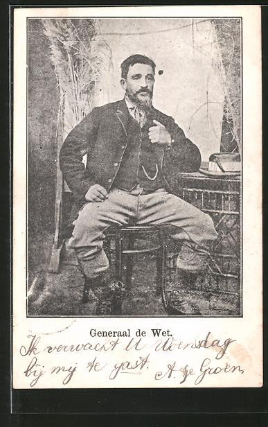 AK General de Wet, Portrait des Burenkommandanten