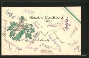 AK Landsberg, Absolvia 1928, Studentenwappen