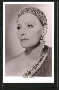AK Schauspielerin Porträt Greta Garbo