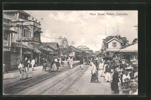 AK Colombo-Pettah, Main Street / Hauptstrasse