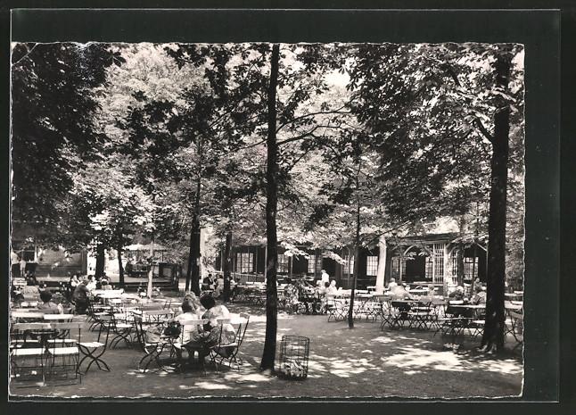 AK Halle / Saale, HO-Gaststätte Knolls Hütte mit Gartenlokal in der Dölauer Heide