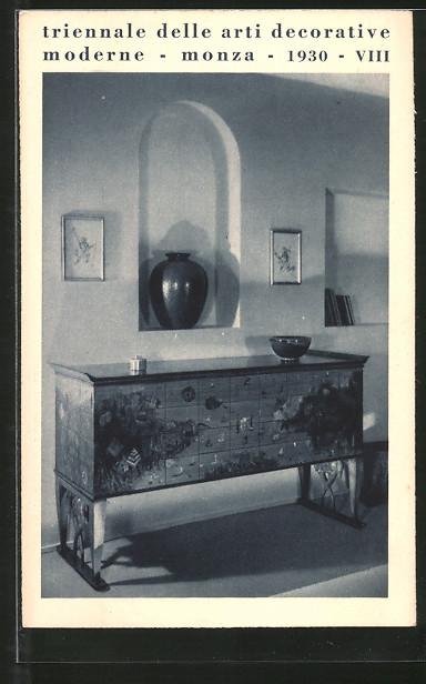 AK Monza, Triennale delle arti decorative moderne 1930, mobile per ...