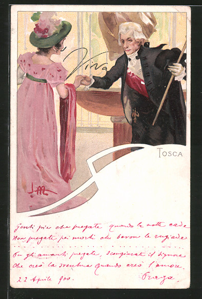 Künstler-AK Leopoldo Metlicovitz: Szene aus der Oper