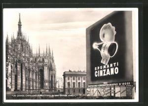 AK Milano, Wein-Reklame