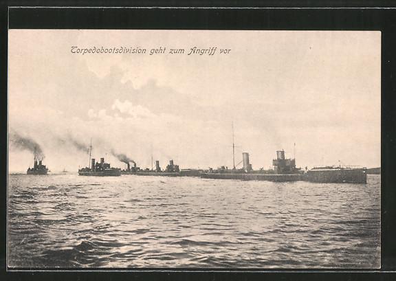 AK Torpedobootsdivision geht zum Angriff vor