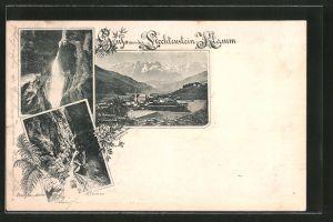 AK St. Johann im Pongau, Liechtenstein-Klamm, Blick in d. Klamm