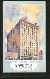Künstler-AK New Orleans, LA, Hotel Roosevelt