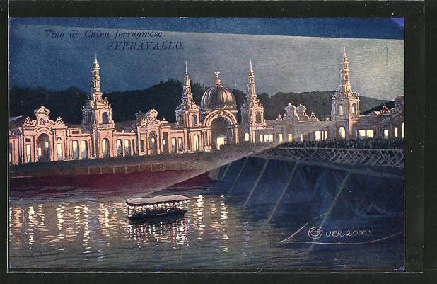Künstler-AK G. Guerzoni: Torino / Turin, Esposizione Internazionale 1911, Brücke zur Ausstellung