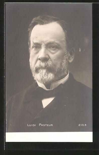 AK Luigi Pasteur, Portrait des Gelehrten