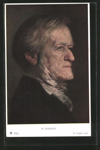 Künstler-AK Hermann Torggler: Portrait von Richard Wagner