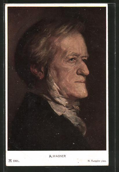 Künstler-AK Hermann Torggler: Richard Wagner, Portrait