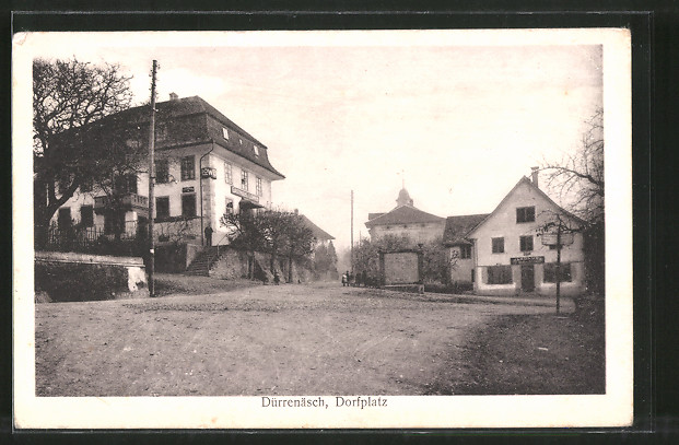 AK Dürrenäsch, Dorfplatz mit Hotel Löwe