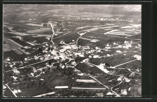 AK Dürrenäsch, Fliegeraufnahme der Ortschaft