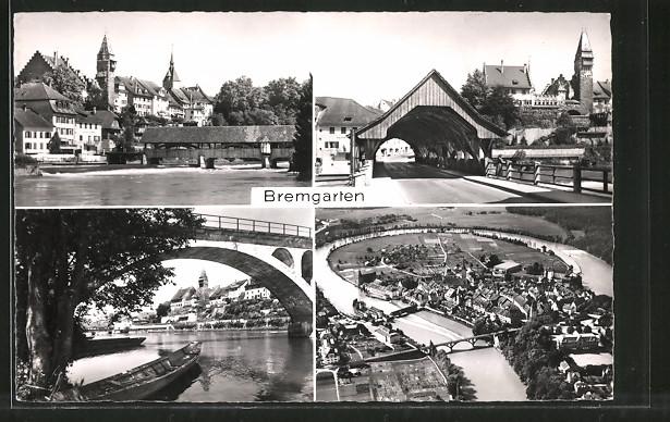 AK Bremgarten, versch. Ortsansichten