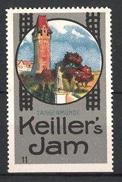 Reklamemarke Tangermünde, Keiller's Jam, Statue & Turm zu Tangermünde