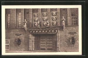 AK Hamburg-Neustadt, Verwaltungsgebäude d. Deutschnationaler Handlungsgehilfen-Verband, Haupteingang, Holstenwall 4