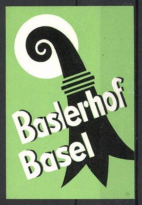 Kofferaufkleber Basel, Hotel Baslerhof 0