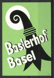 Kofferaufkleber Basel, Hotel Baslerhof