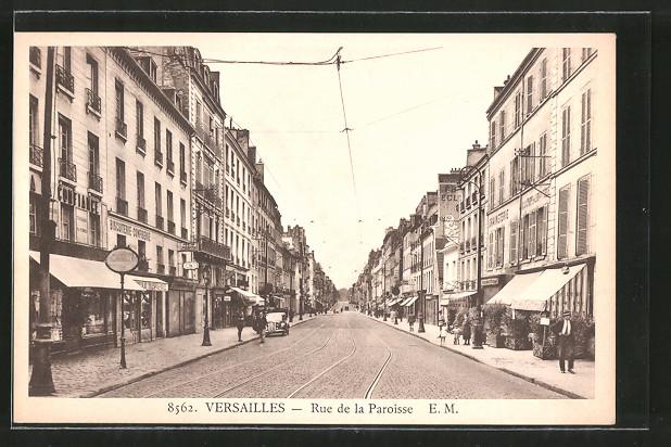 AK Versailles, Geschäfte in der Rue de la Paroisse