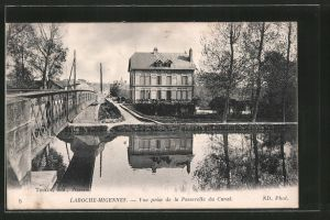 AK Laroche-Migennes, vue prise de la Passerelle du Canal