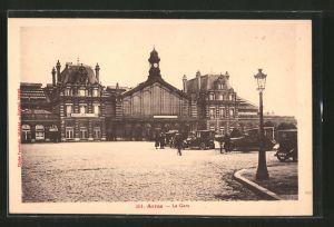 AK Arras, la gare, Bahnhof