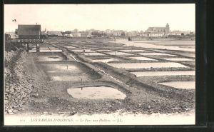 AK Les-Sables-d'Olonne, le parc auf Huîtres, Krebsfischer bei der Arbeit