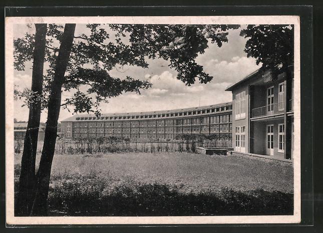 AK Halle-Dölau, Blick zum Luftwaffenlazarett