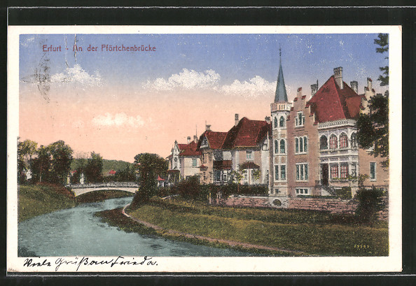 AK Erfurt, Partie an der Pförtchenbrücke