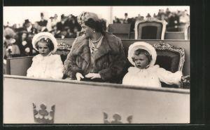 AK Prinzessin Sibylle mit den Prinzessinnen Margaretha und Birgitta von Schweden