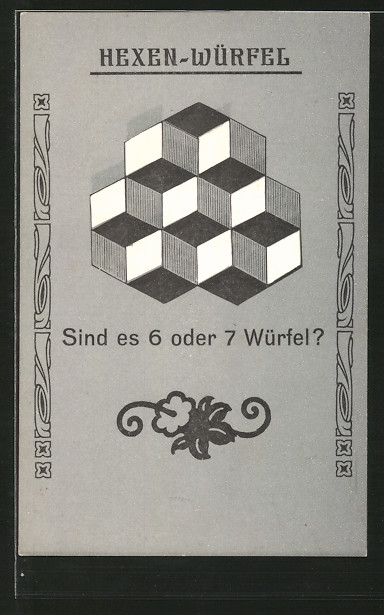 AK Hexen-Würfel, Sind es 6 oder 7 Würfel, optische Täuschung