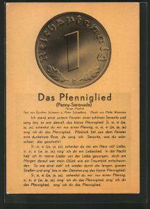 AK Das Pfenniglied, Penny-Serenade, Geldmünze