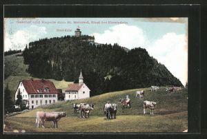 AK Etzel, Gasthof und Kapelle zum St. Meinrad