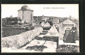 AK Fez, Cimetière Arabe, arabischer Friedhof