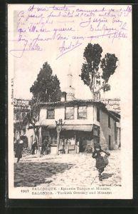AK Salonique / Salonica, Epicerie Turque et Minaret, Turkish Grocery and Minaret