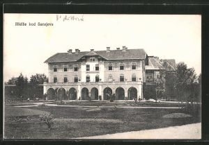AK Ilidze, Hotel Austria mit Gartenanlage
