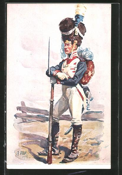 Künstler-AK Angelo Jank: Soldat des K. B. Infanterie-Leibregiments