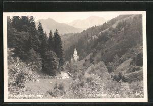 AK St. Leonhard a. Loibl, Blick zum Ort