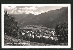 AK Steinfeld im Drautale, Blick auf den Ort und ins Tal