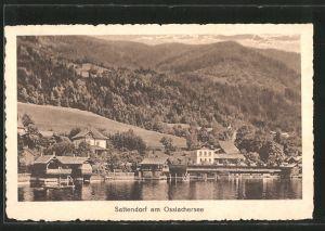 AK Sattendorf a. Ossiachersee, Blick zum Ort