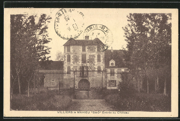 AK Villiers-le-Mahieu, Entree du Chateau